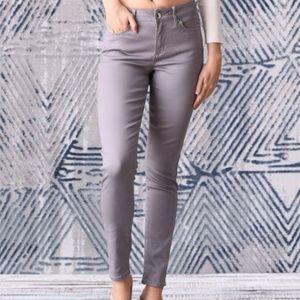 SEVEN7 Light Gray High-Rise Skinny Jeans